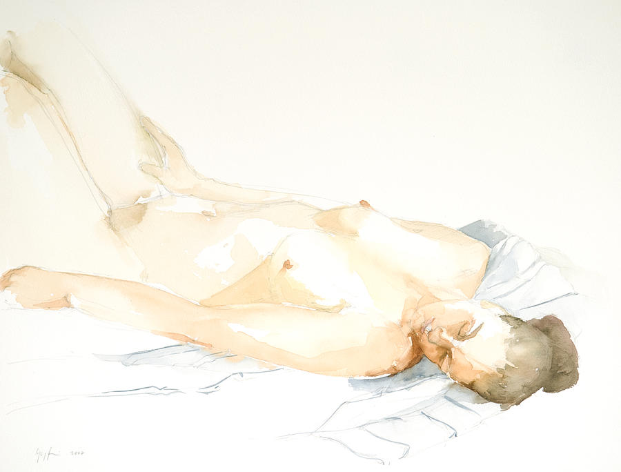 Nude Woman Painting - Nude Series by Eugenia Picado