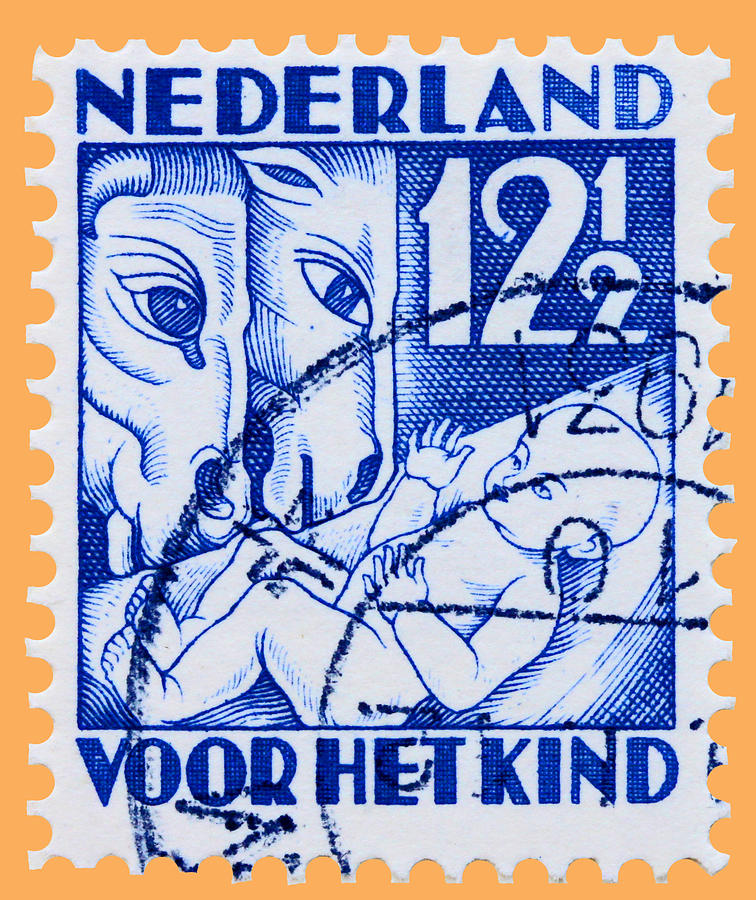 Old Dutch Postage Stamp Photograph by James Hill