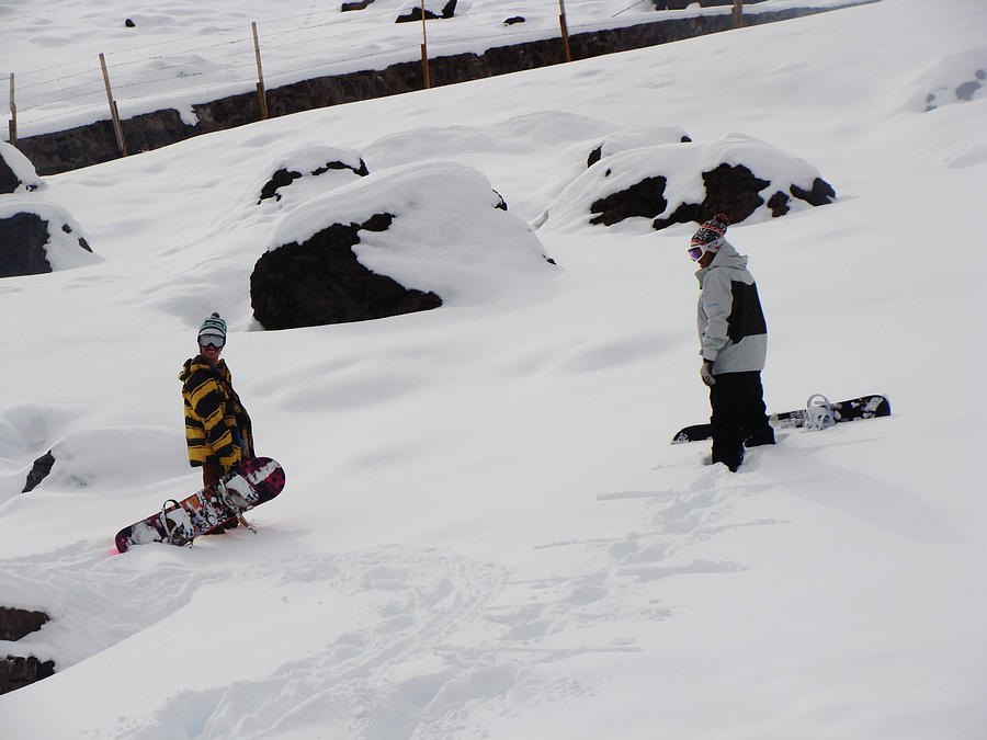 Snow Photograph - Snowboarding by Michell Leon
