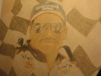 Dale Earnhardt Sr. Drawing - Work In Progress Gift For Husband by Suzan Tisdale