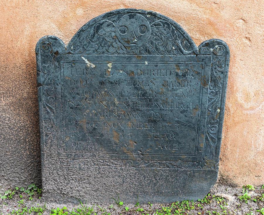 1737 Tombstone Photograph