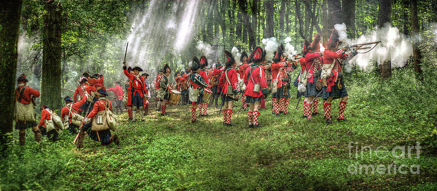 Uniform Digital Art - 1763 Battle Of Bushy Run Pennsylvania by Randy Steele