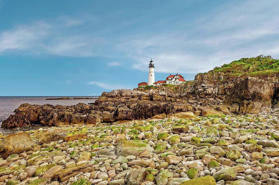 Architecture Photograph - 1791 Portland Head Lighthouse  -  1791portlandheadlight185245 by Frank J Benz