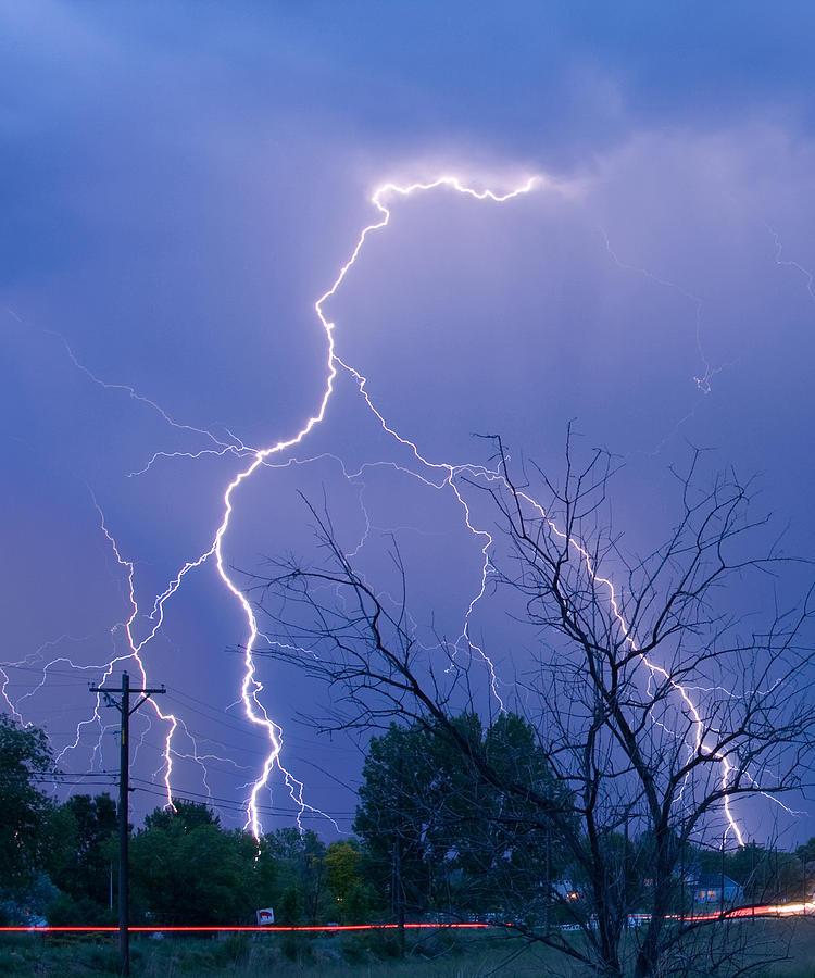 Lightning Photograph - 17th Street Lightning Strike Fine Art Photo by James BO  Insogna