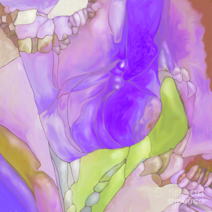 Abstract Flower Landscape Digital Art