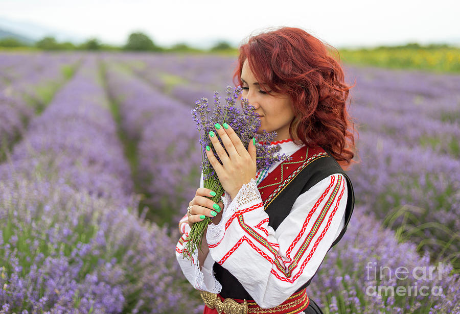 Bulgaria Photograph - Bulgarian Girl In A Lavender Field by Nikolay Stoimenov