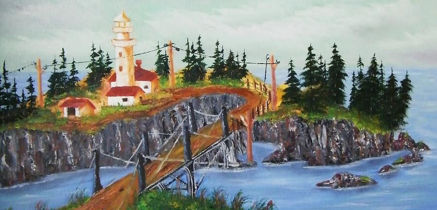 Lighthouse Painting by Larry Doyle