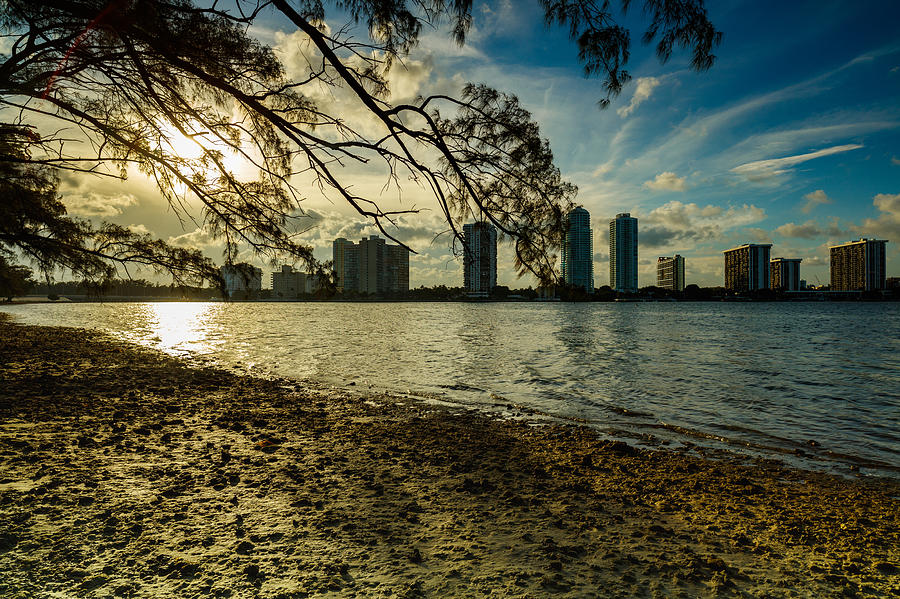 Architecture Photograph - Miami Skyline by Raul Rodriguez