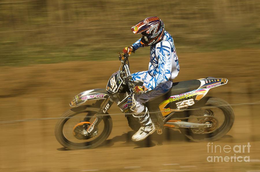 Bike Photograph - Motocross by Angel Ciesniarska