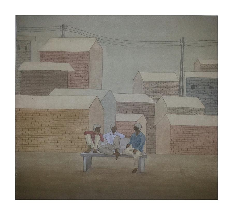 Untitled Painting by Gulab Kapadiya