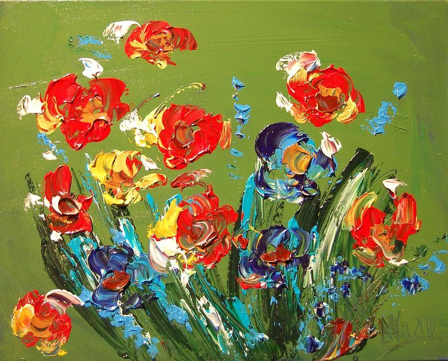 Flowers Painting - Flowers by Mark Kazav