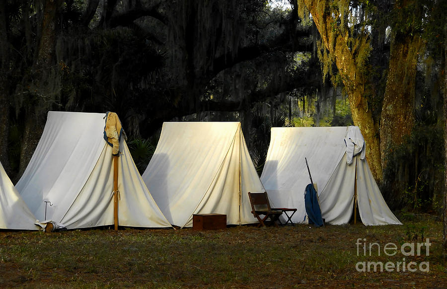 Camp Photograph - 1800s Army Tents by David Lee Thompson