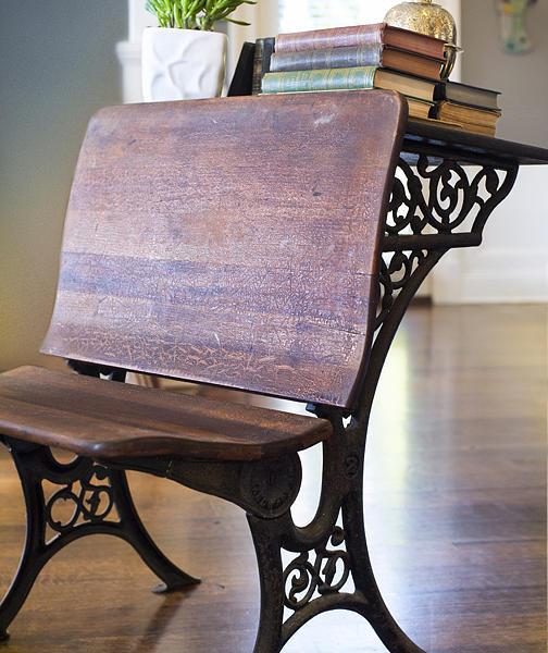 Desk Mixed Media - 1800s Student Desk by Alejandra Solett