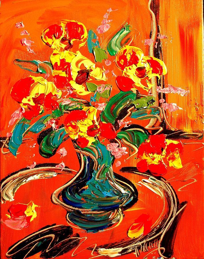 Flowers Painting by Mark Kazav