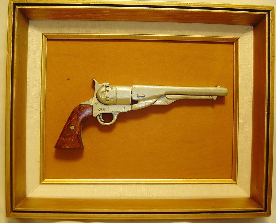 Gun Sculpture - 1851 Colt by Russell Ellingsworth