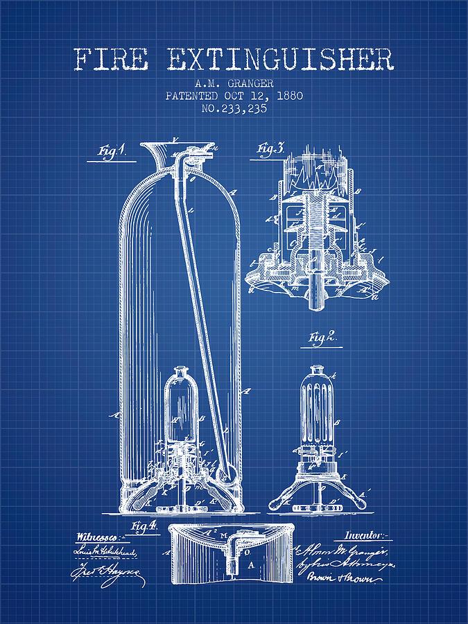 1880 fire extinguisher patent blueprint digital art by aged pixel patent digital art 1880 fire extinguisher patent blueprint by aged pixel malvernweather Choice Image