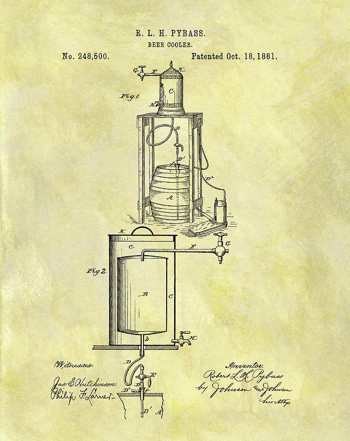1881 Beer Cooler Patent Drawing