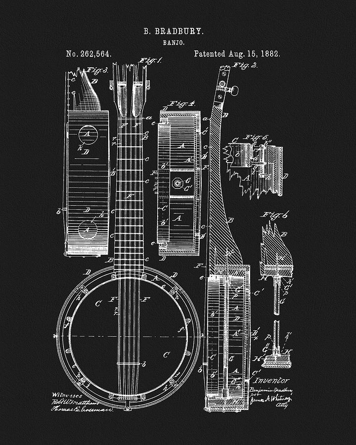 1882 Banjo Patent Drawing