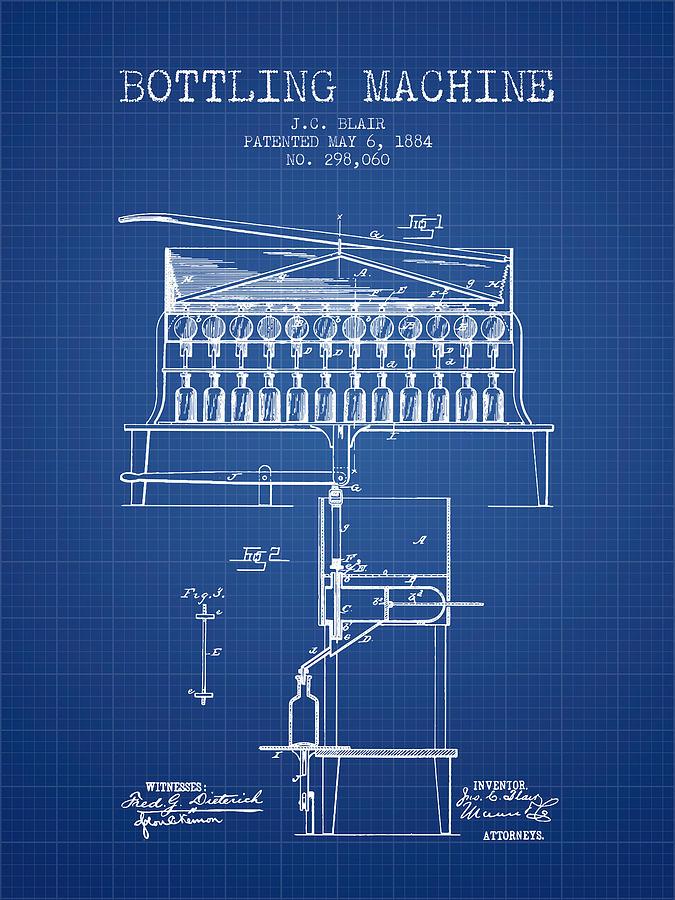 1884 bottling machine patent blueprint digital art by aged pixel bottling machine digital art 1884 bottling machine patent blueprint by aged pixel malvernweather Image collections
