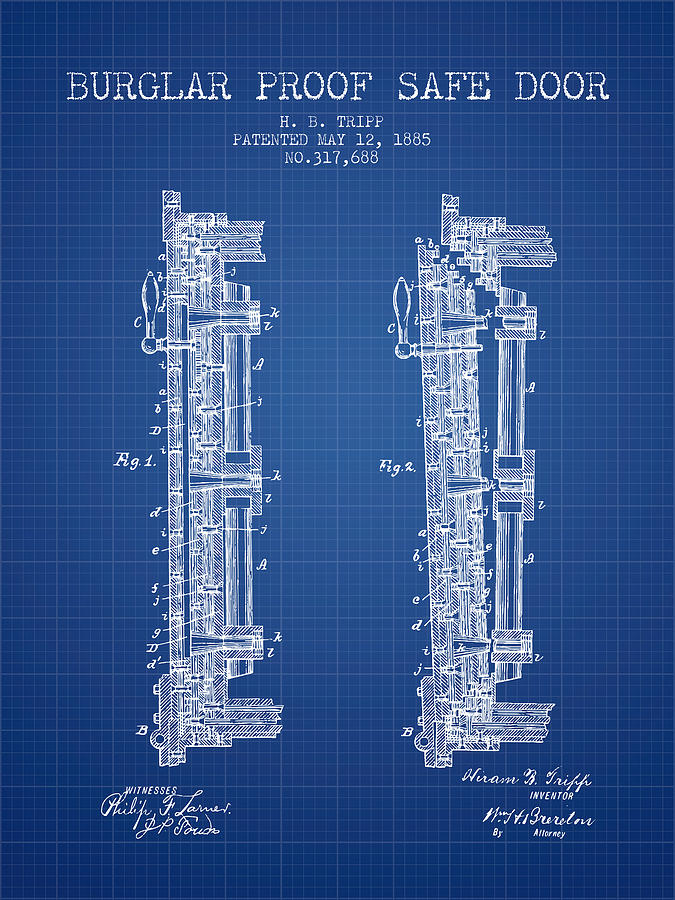 1885 bank safe door patent blueprint digital art by aged pixel bank safe digital art 1885 bank safe door patent blueprint by aged pixel malvernweather Images