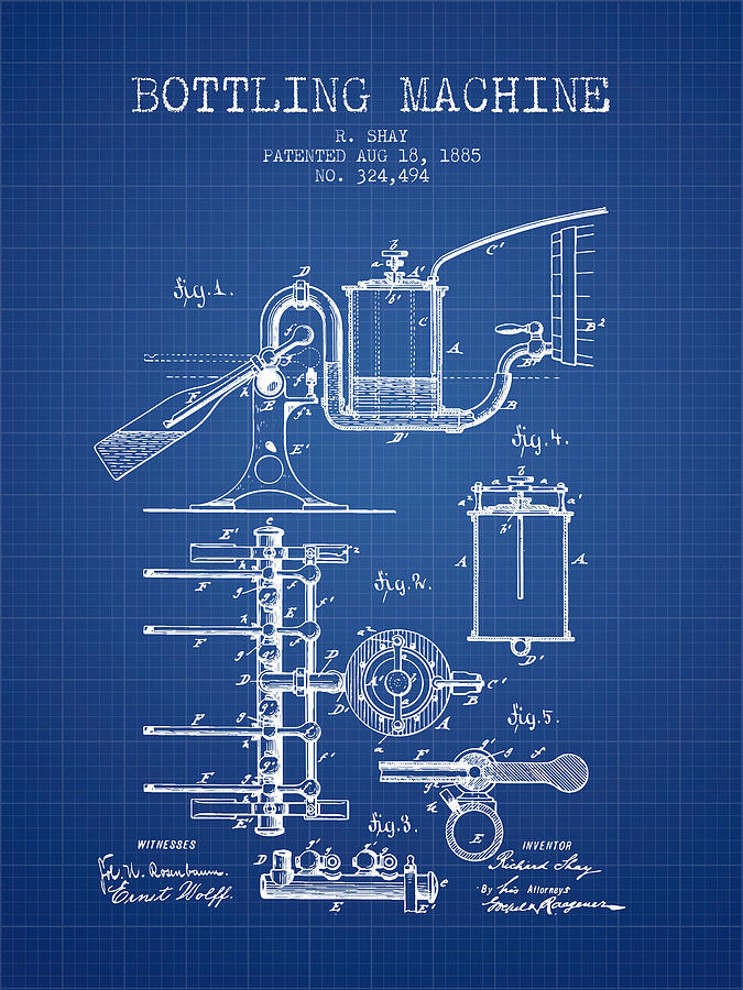 1885 bottling machine patent blueprint digital art by aged pixel bottling machine digital art 1885 bottling machine patent blueprint by aged pixel malvernweather