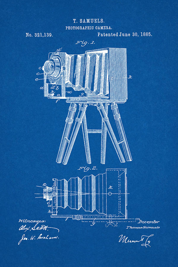 1885 camera us patent invention drawing blueprint digital art by patent digital art 1885 camera us patent invention drawing blueprint by todd aaron malvernweather Choice Image