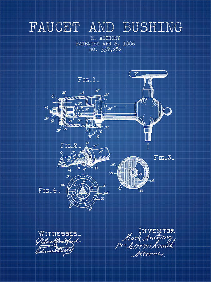 1886 faucet and bushing patent blueprint digital art by aged pixel beer digital art 1886 faucet and bushing patent blueprint by aged pixel malvernweather Images