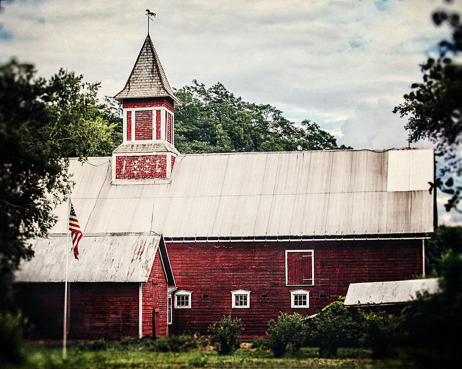Barn Photograph - 1886 Red Barn by Lisa Russo