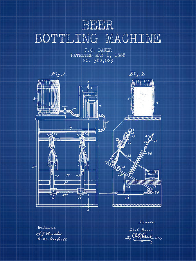 1888 beer bottling machine patent blueprint digital art by aged pixel beer digital art 1888 beer bottling machine patent blueprint by aged pixel malvernweather Image collections
