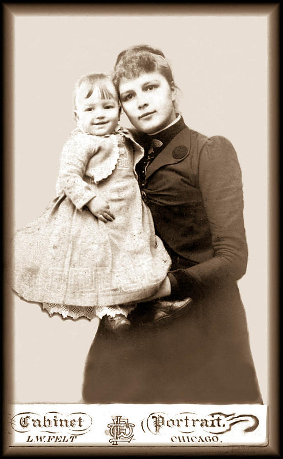 1800s Photograph - 1888 Infant And Mother by Tom Zukauskas