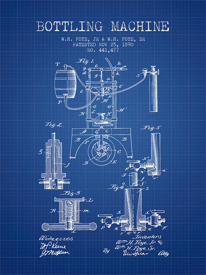 1890 bottling machine patent blueprint digital art by aged pixel bottling machine digital art 1890 bottling machine patent blueprint by aged pixel malvernweather Choice Image