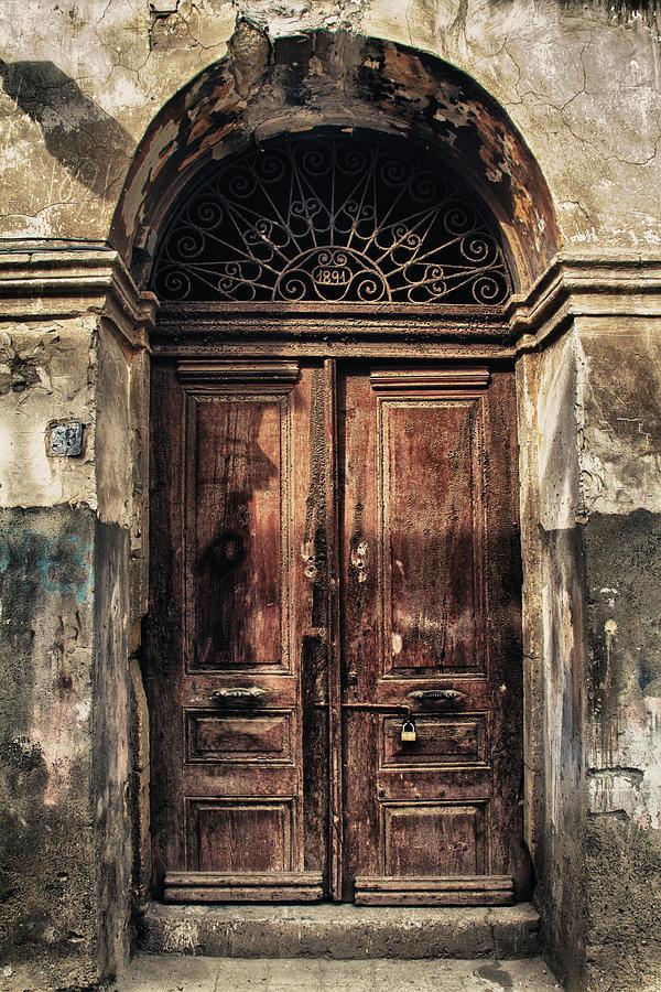 Ancient Photograph - 1891 Door Cyprus by Stelios Kleanthous