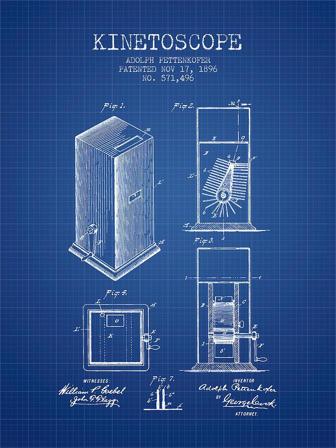 1896 kinetoscope patent blueprint digital art by aged pixel camera digital art 1896 kinetoscope patent blueprint by aged pixel malvernweather Images