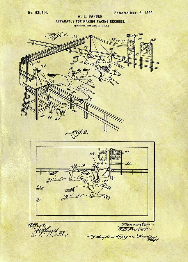 1899 Horse Racing Track Patent Drawing