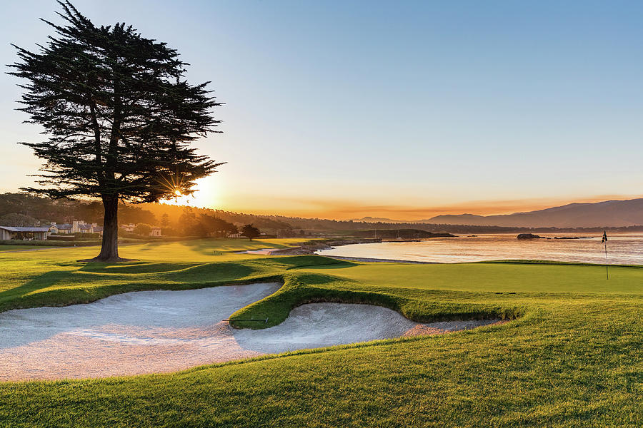 Pebble Beach Golf Course Photograph - 18th at Pebble Beach by Mike Centioli