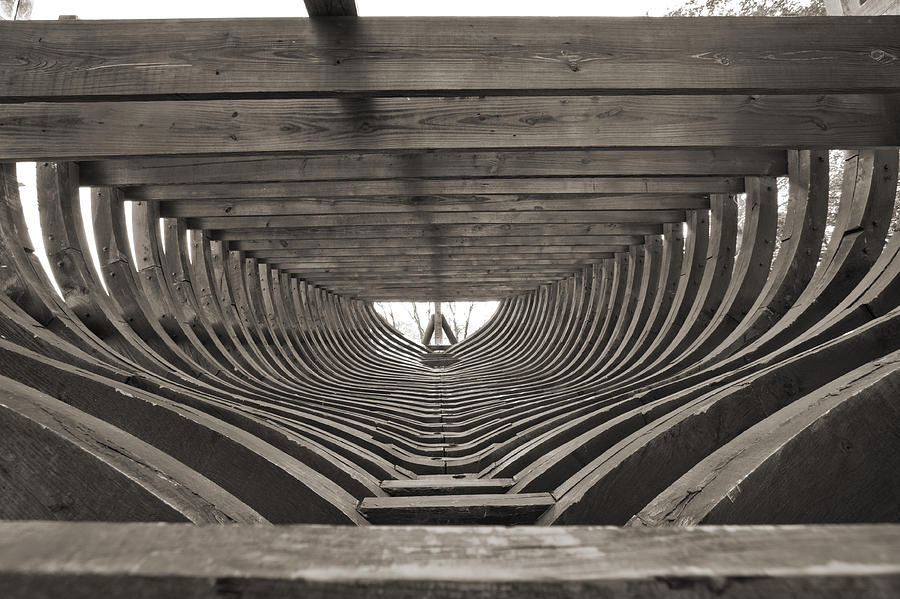 Ship Building Photograph - 18th Century Brigantine Cargo Ship Frames by Dustin K Ryan