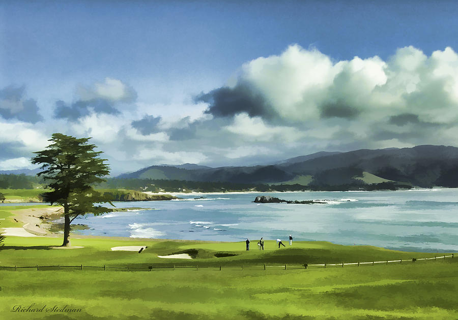 18th Hole Pebble Beach 2 by Rich Stedman