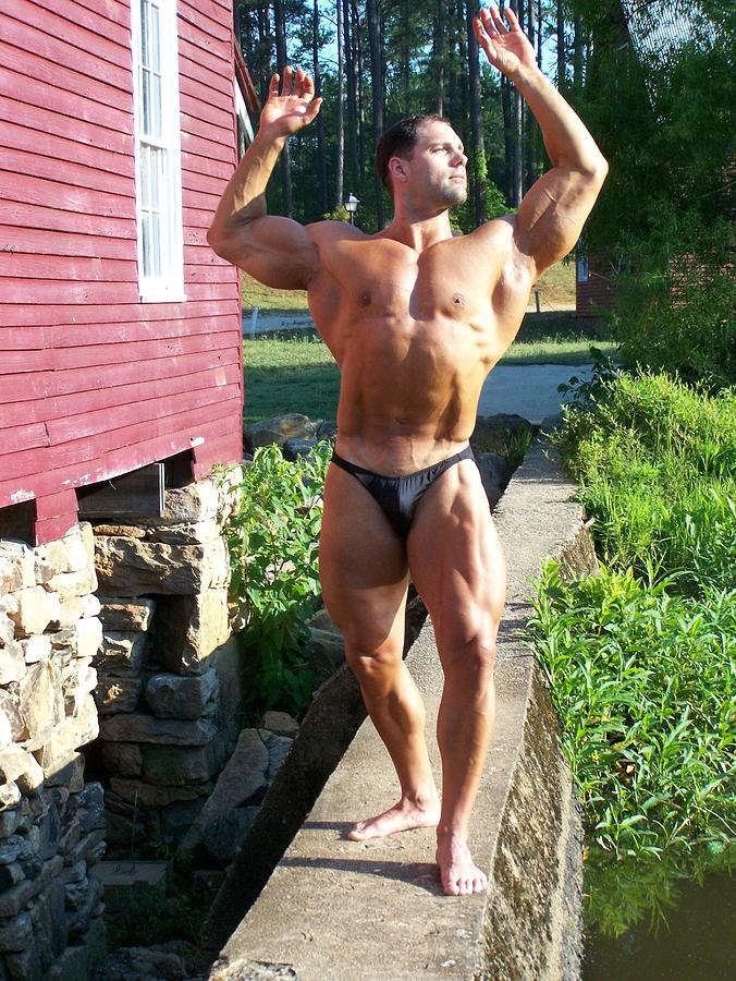 Marius Photograph - Male Muscle Art by Jake Hartz