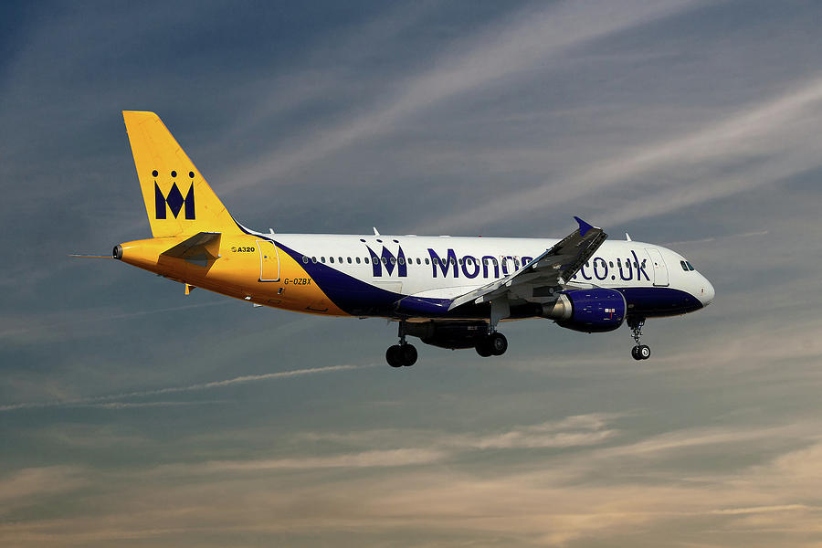 Monarch Photograph - Monarch Airlines Airbus A320-214 by Smart Aviation