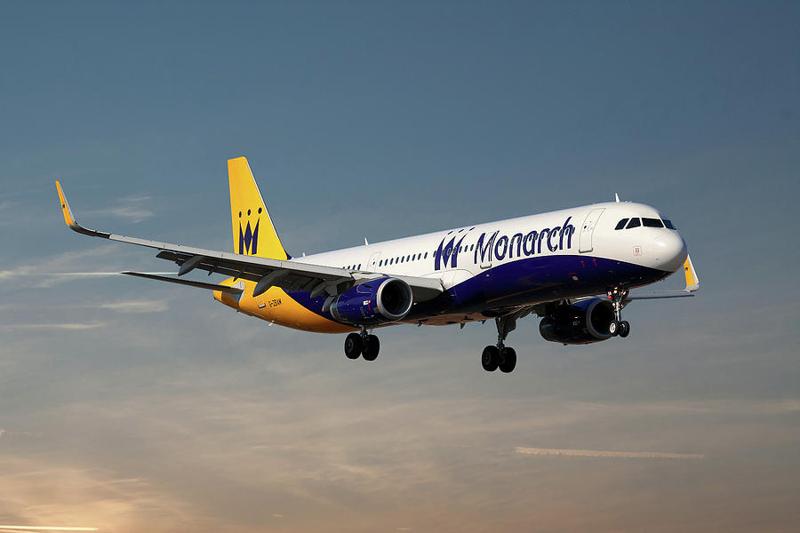 Monarch Photograph - Monarch Airlines Airbus A321-231 by Smart Aviation