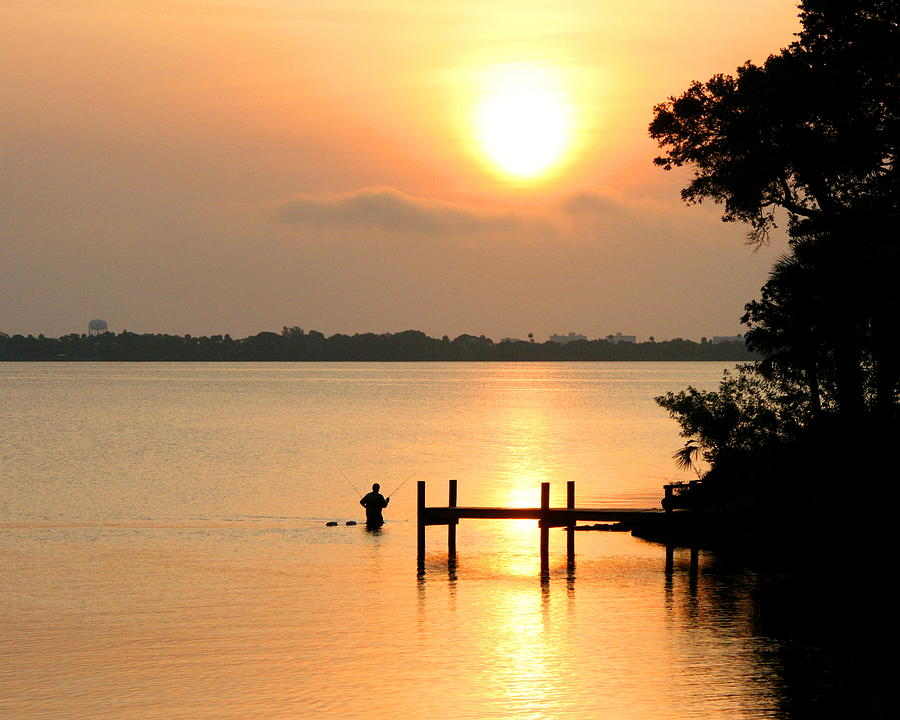 Nature Photograph - Sunrise / Sunset / Indian River by W Gilroy