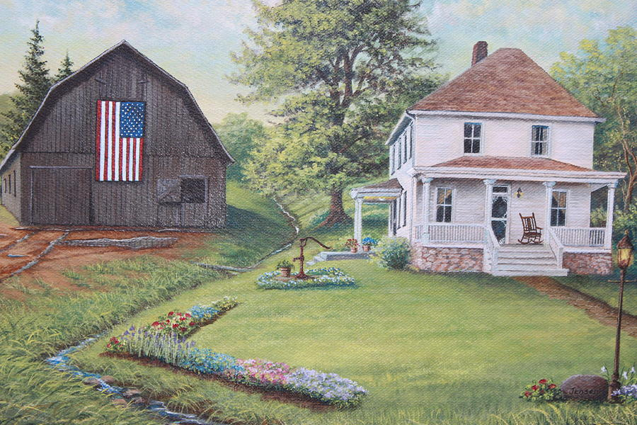 House Painting - 1900 4th Of July by Diana Miller