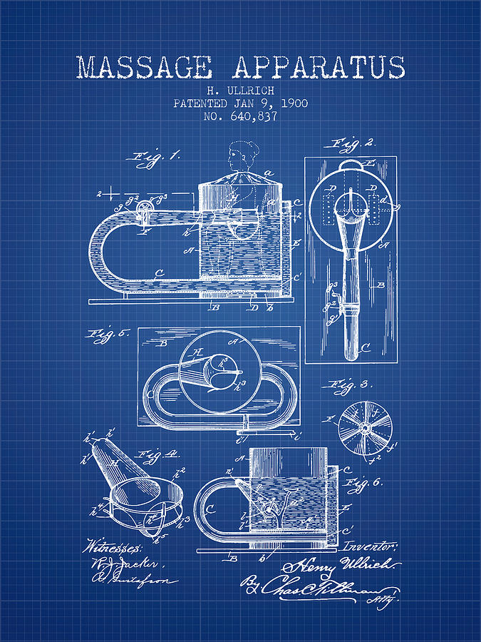 1900 massage apparatus patent blueprint digital art by aged pixel massage digital art 1900 massage apparatus patent blueprint by aged pixel malvernweather Gallery