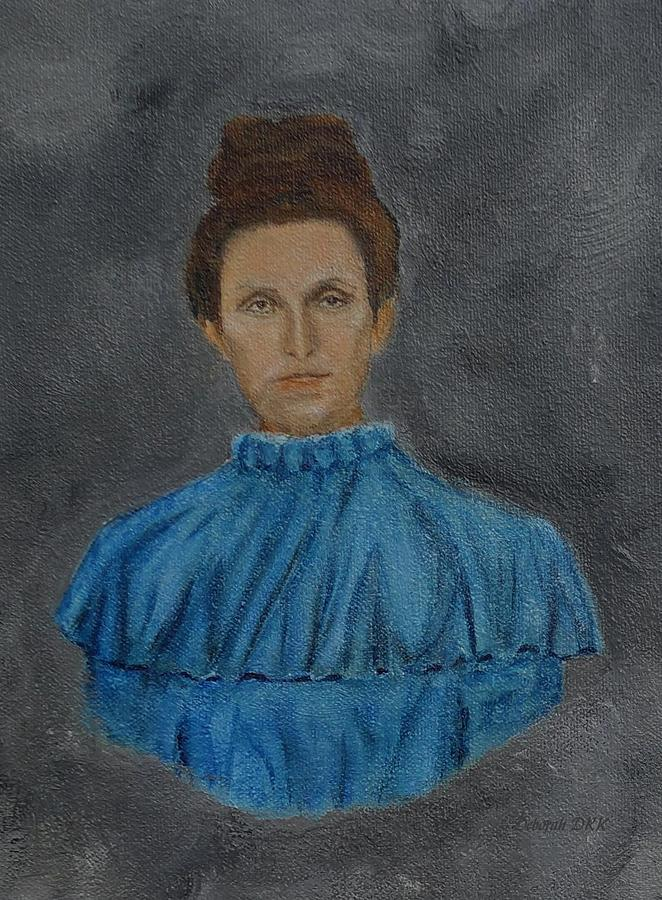 1900s Lady in Blue by Deborah D Russo