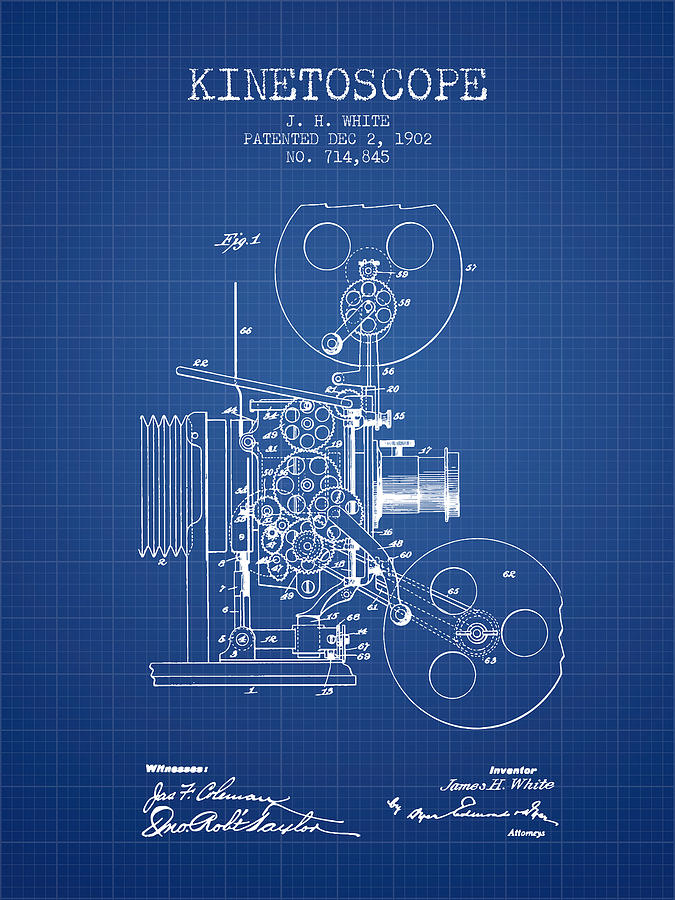 1902 kinetoscope patent blueprint digital art by aged pixel camera digital art 1902 kinetoscope patent blueprint by aged pixel malvernweather Choice Image