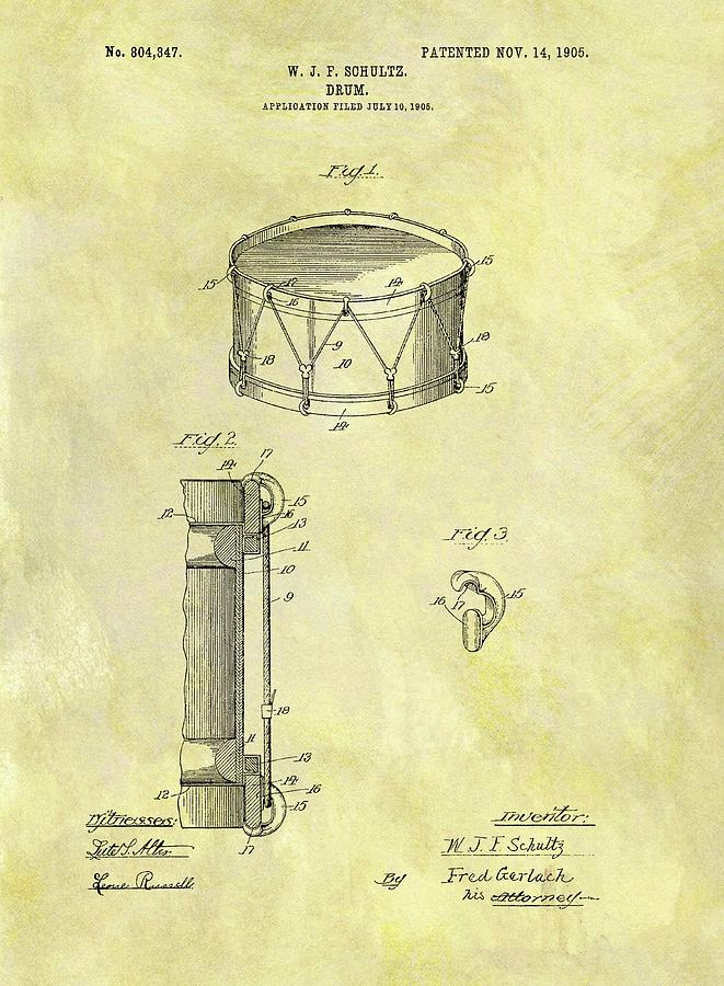 1905 Drum Patent Drawing