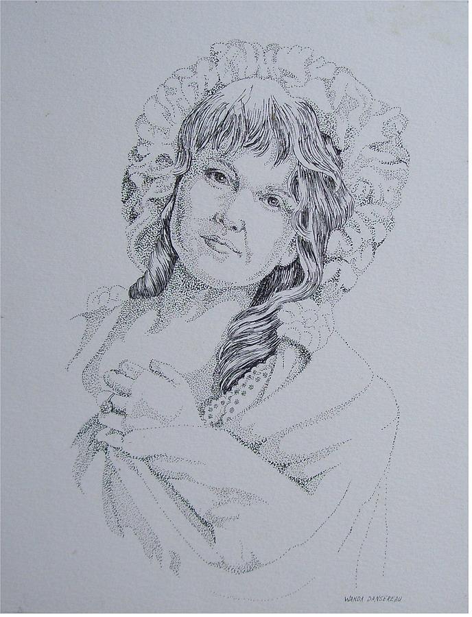 1910 Lady Drawing by Wanda Dansereau