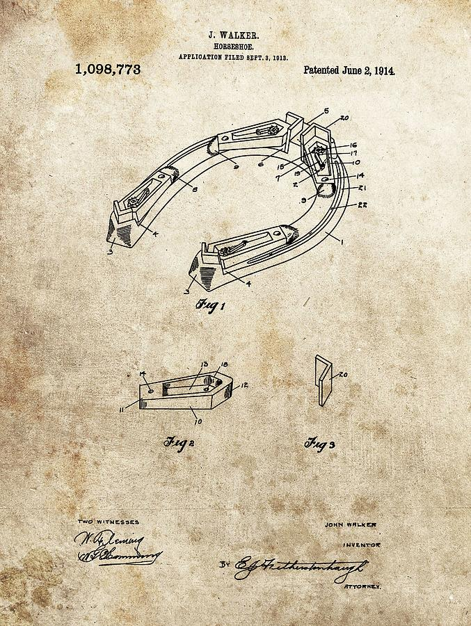 1914 Horseshoe Patent Drawing