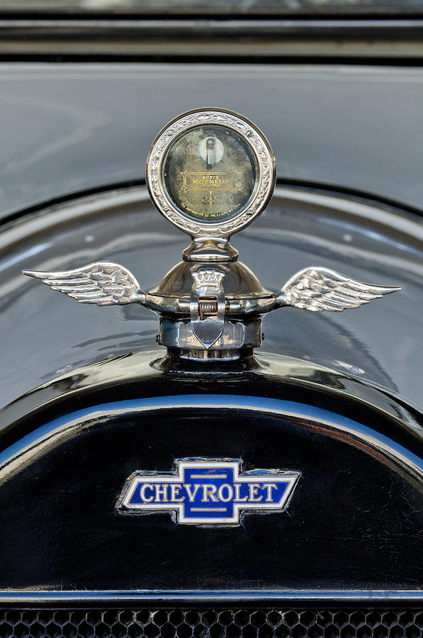 1915 Chevrolet Touring Photograph - 1915 Chevrolet Touring Hood Ornament 2 by Jill Reger