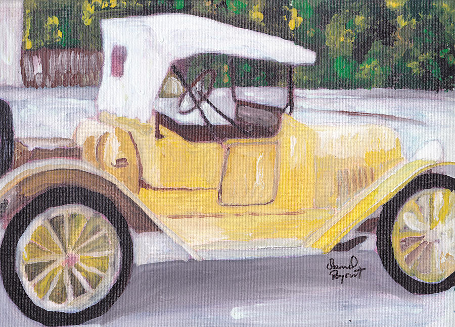 Chevy Painting - 1915 Chevy by David Poyant Paintings